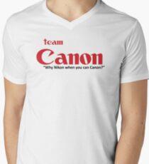 Team Canon! - why nikon when you can CANON. Men's V-Neck T-Shirt