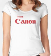 Team Canon Original Women's Fitted Scoop T-Shirt