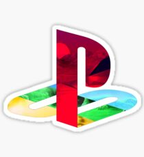 Playstation Logo Vaporwave Sticker