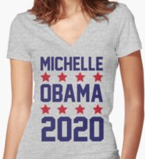 Michelle Obama 2020 Women's Fitted V-Neck T-Shirt