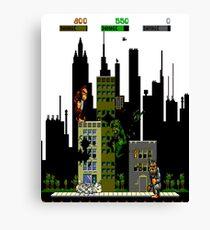 Rampage Retro NES Gamer Shirt Canvas Print