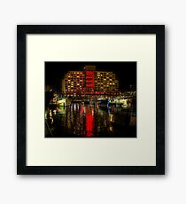 Dark Mofo, Painting the town Red Framed Print