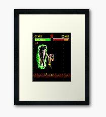 Harambe vs Trump Mortal Kombat Framed Print