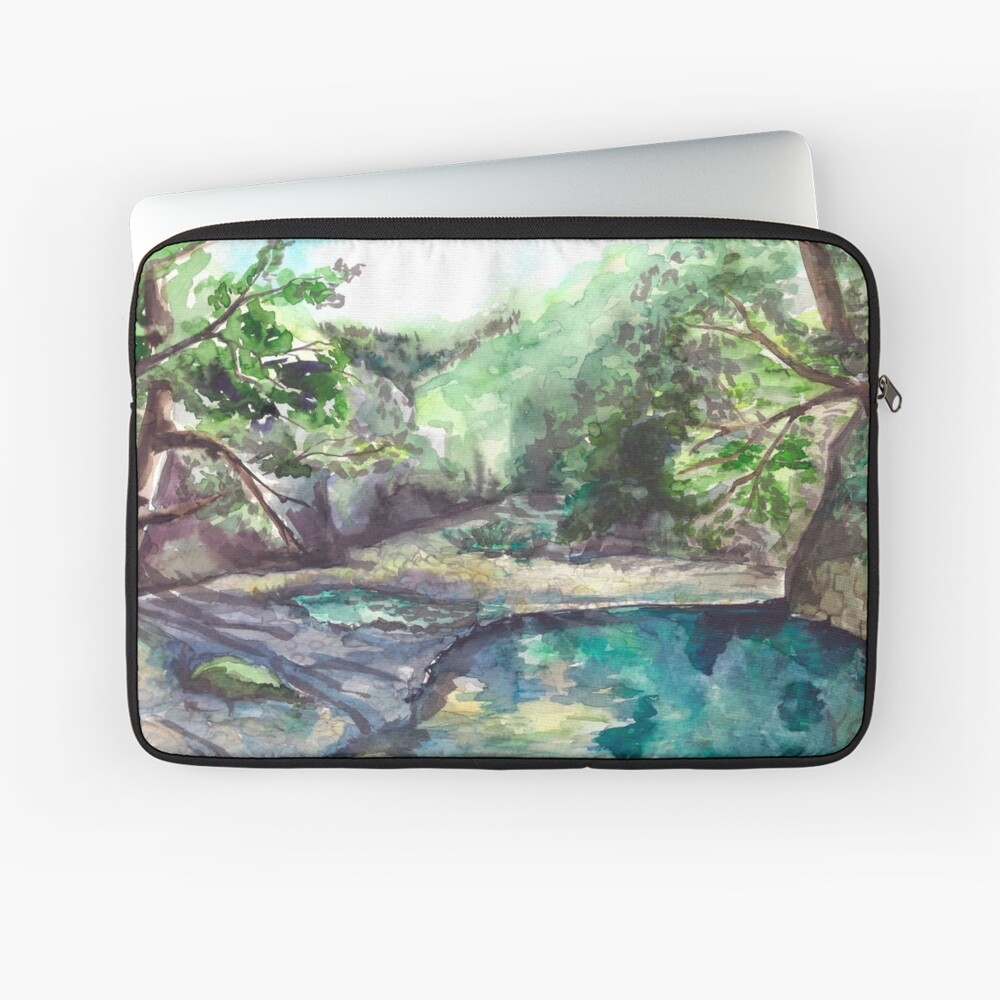 Mountain river Laptop Sleeve Front