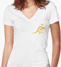 Wallabies Women's Fitted V-Neck T-Shirt