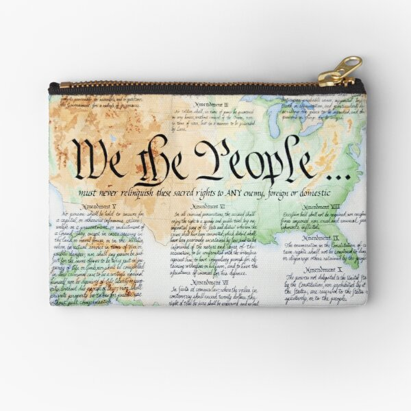 We the People Zipper Pouch