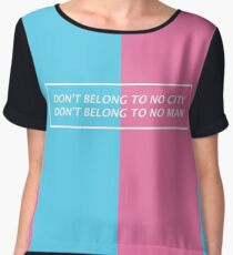 Halsey Lyrics Chiffon Top