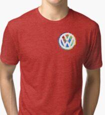 VW Logo Tie Dye Tri-blend T-Shirt