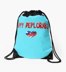 HAPPY DEPLORABLE  Drawstring Bag