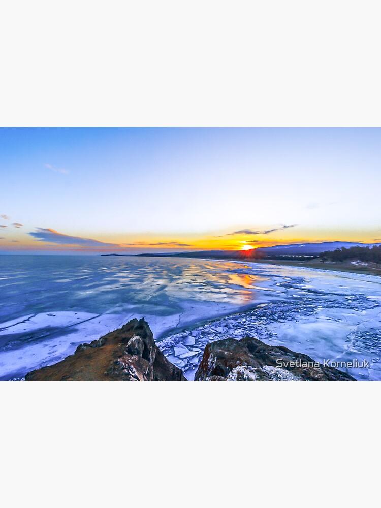 Sunrise at lake Baikal by SvetlanaKorneli
