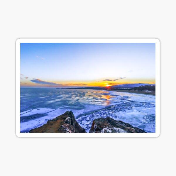 Sunrise at lake Baikal Sticker