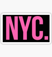 NYC Pink and Black Sticker