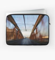 Road bridge (blurred motion) Laptop Sleeve