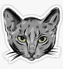 Russian blue cat. Sticker