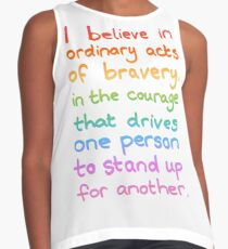 Ordinary Acts of Bravery - Divergent Quote  Contrast Tank