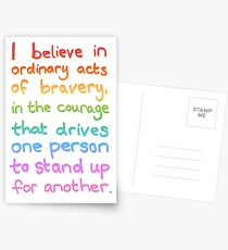 Ordinary Acts of Bravery - Divergent Quote  Postcards