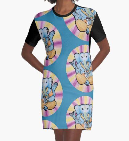 ganesh enjoys shakes Graphic T-Shirt Dress