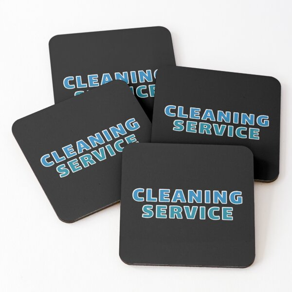 Cleaning Service Funny Coasters (Set of 4)