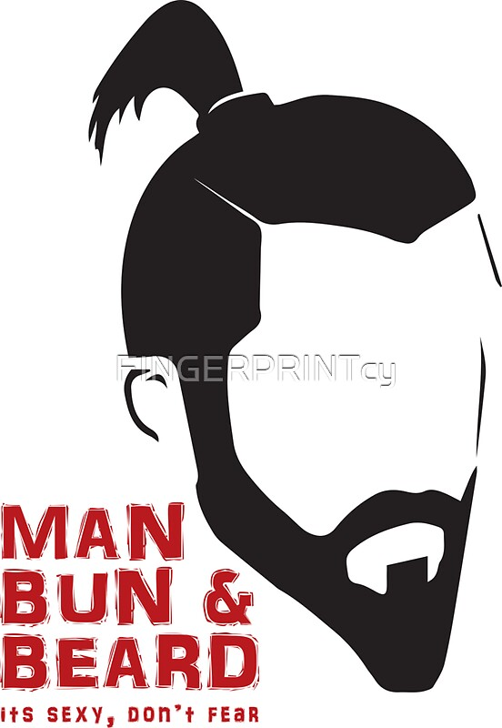 Man bun beard by fingerprintcy