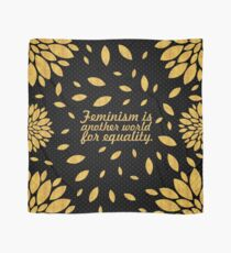 "Feminism is another... ""Malala"" Inspirational Quote Scarf"