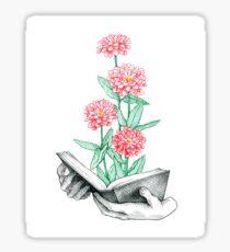 Buch in voller Blüte Sticker
