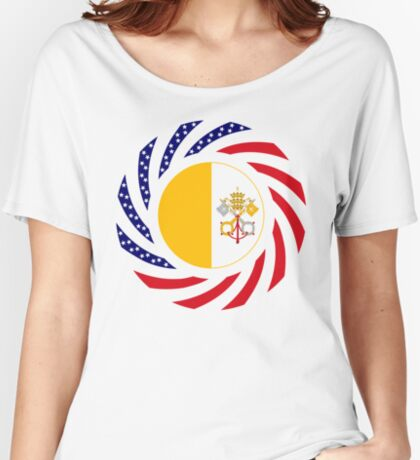 Catholic Murican Patriot Flag Series Relaxed Fit T-Shirt