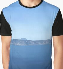 Blue Oregon Mountains and Water Graphic T-Shirt