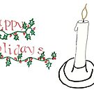 Happy Holidays Candle by pinxnpurples