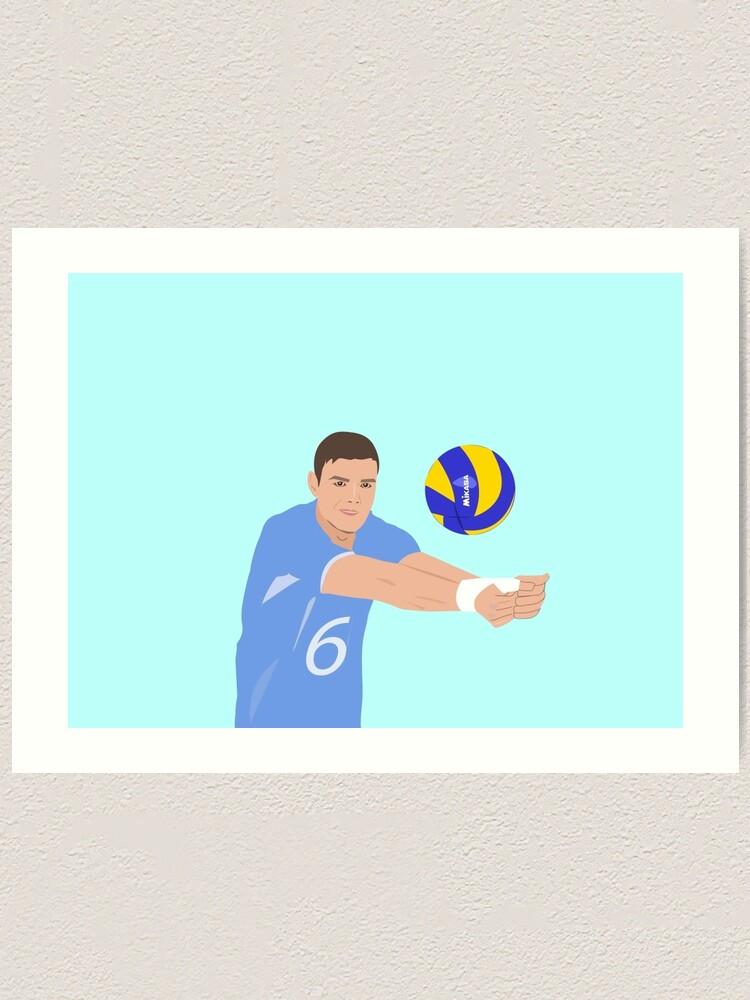 Volleyball Cartoon Art Print By Sagaciousdesign Redbubble