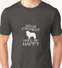 Great Pyrenees' Make Me Happy Unisex T-Shirt