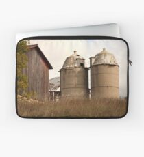 Two Old Silos Talking About the Barn Laptop Sleeve