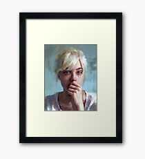 crying portrait Framed Print