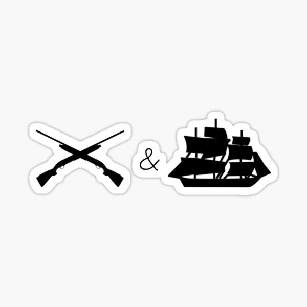 Guns and Ships Hamilton Sticker