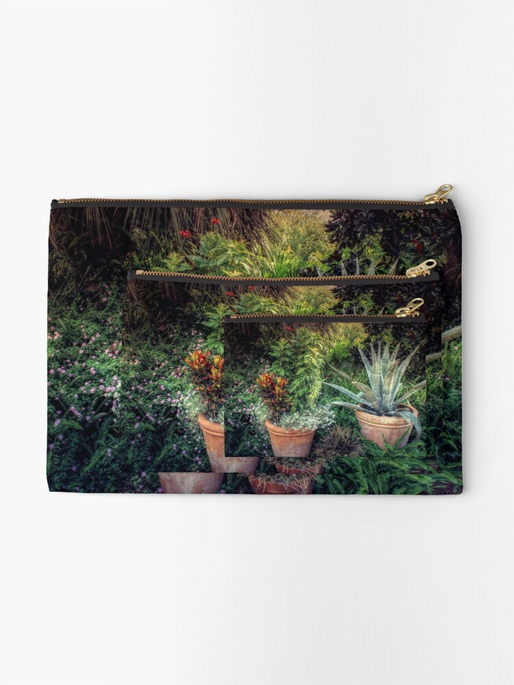 Alternate view of Terra Cotta Trio at Sunset Zipper Pouch