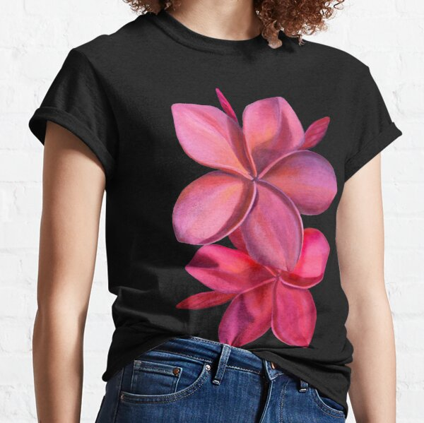 Deep Pink Hawaiian Plumeria Classic T-Shirt