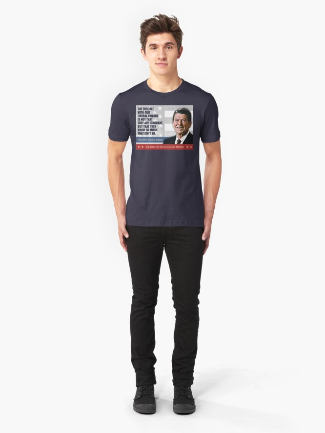Alternate view of President Ronald Reagan Quote Slim Fit T-Shirt