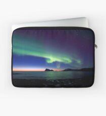 Aurora Borealis over Haja island -II Laptop Sleeve