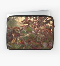 Red and Green Fall Leaves II Laptop Sleeve