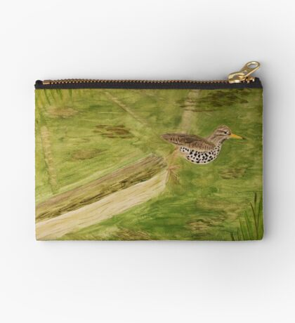 Spotted Sandpiper on the Kinnickinnic River Studio Pouch