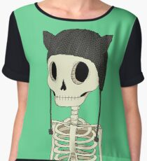 Skeleton Kitty Women's Chiffon Top