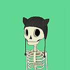 Skeleton Kitty by agrapedesign
