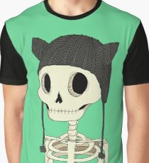 Skeleton Kitty Graphic T-Shirt
