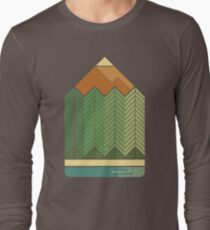 Drawing Mountains Long Sleeve T-Shirt