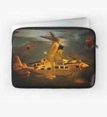 """""""The Osprey"""" - A  Golden Steam Powered Flying Gunship Laptop Sleeve"""