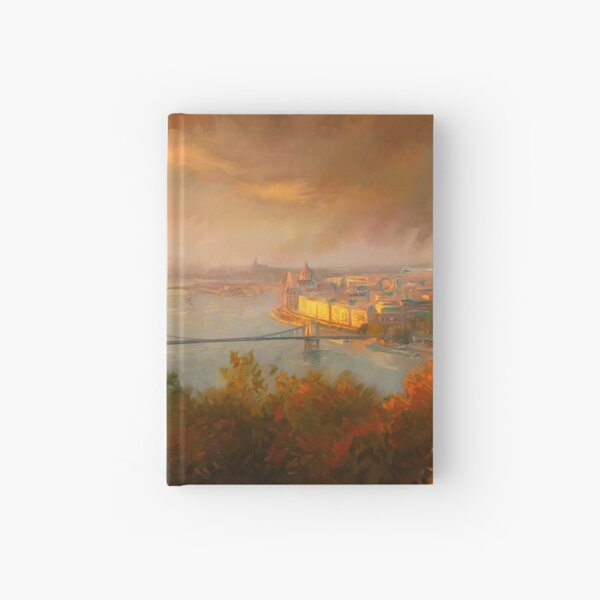 View of Budapest Hardcover Journal