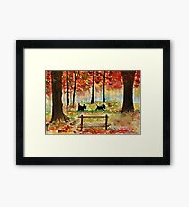 Scottie Dogs The Four Seasons 'Autumn' Framed Print