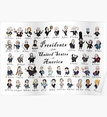 Presidents of the USA 2016 Update  (No Border) Poster