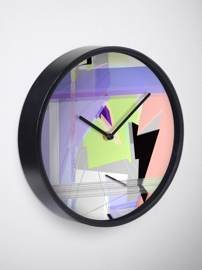 Alternate view of Abstract 80's Glitch Art Clock