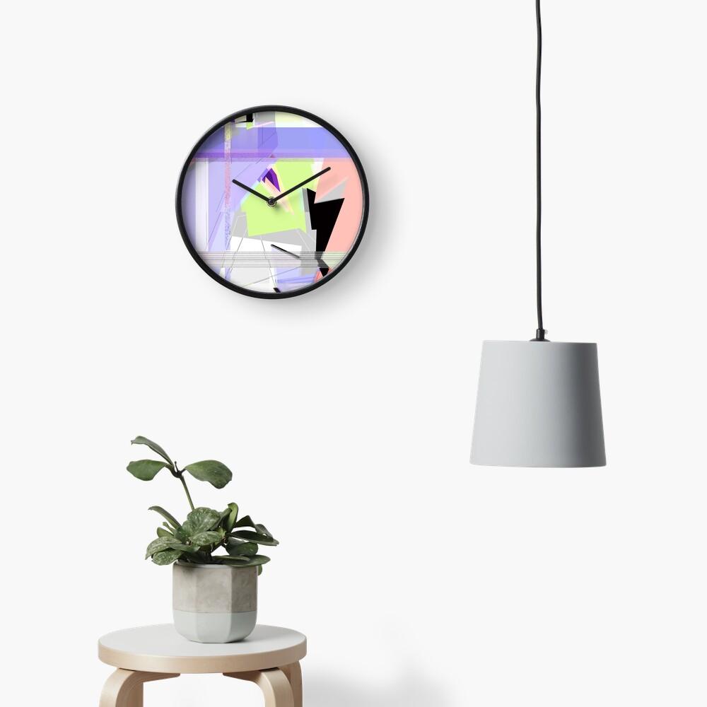 Abstract 80's Glitch Art Clock
