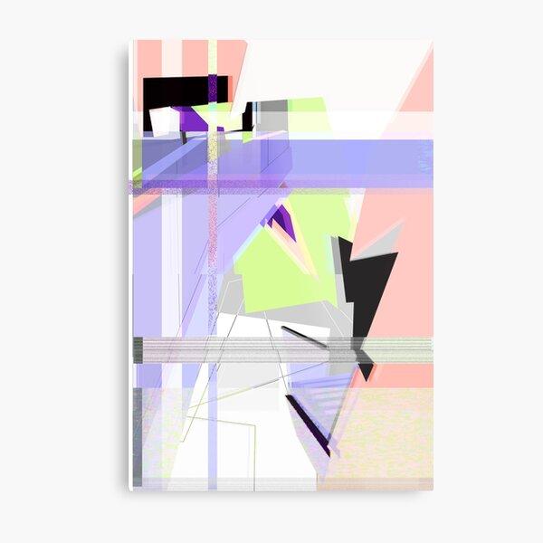 Abstract 80's Glitch Art Metal Print